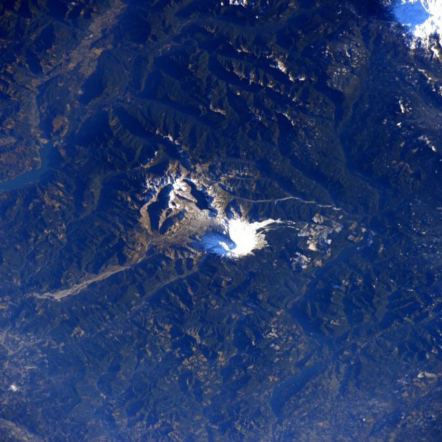 Mt Saint Helens from space